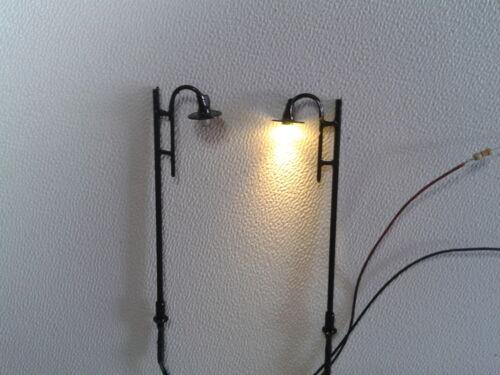 LED Straßenlaterne H0 1:87 Lampe Leuchte Laterne 10er-Pack NEU schwarz Typ3 TT