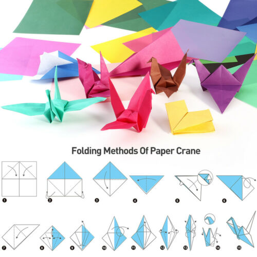 50 Sheets Vivid Colors Sided Origami Paper Square Sheet for Arts Crafts Projects
