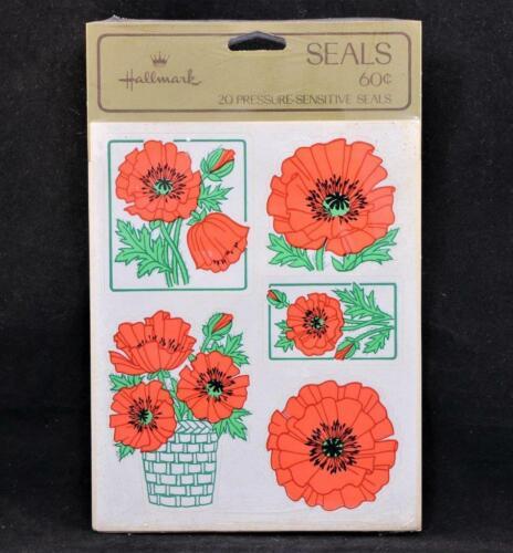 Sello Vintage 20 Sellos sensibles a la presión Flores hecho en EE UU.