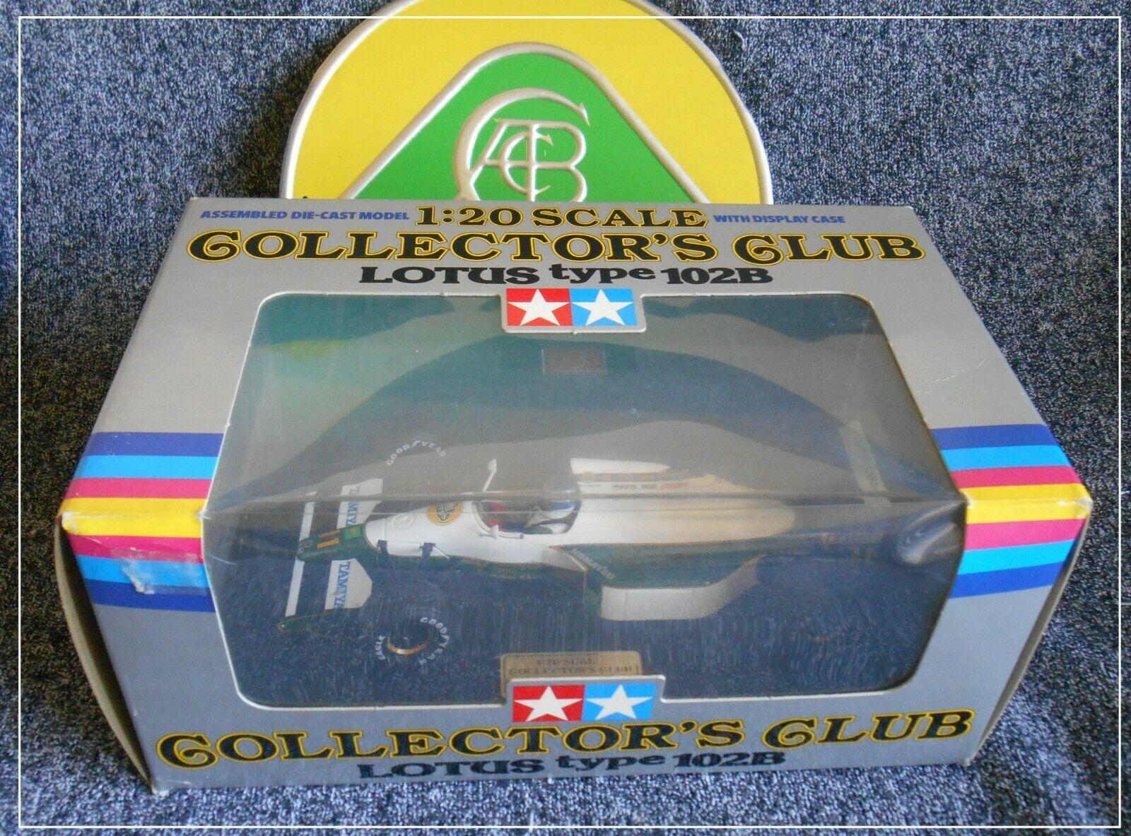 Tamiya Lotus Club de Coleccionistas de menta en caja de 102B 23001 9800 1 20 Hethel F1 Motor