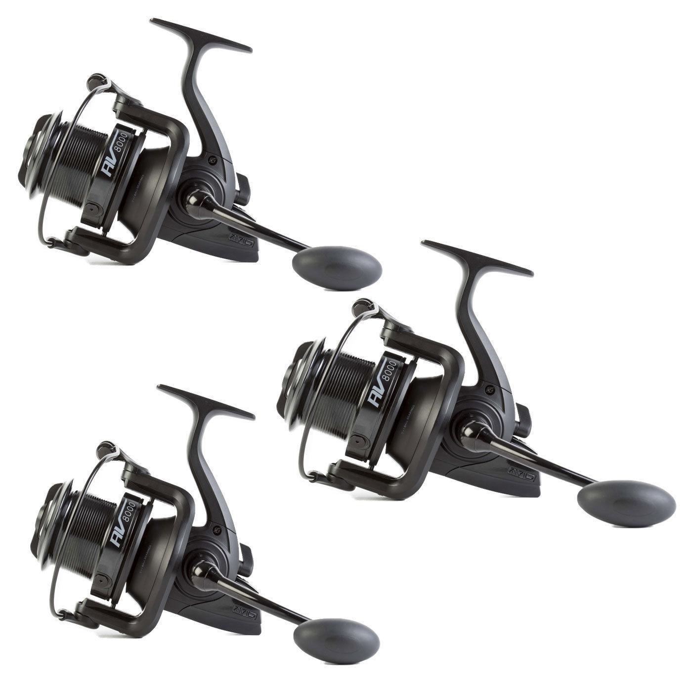 3 x Avid Carp AV8000 Compact Fishing Reel A047003