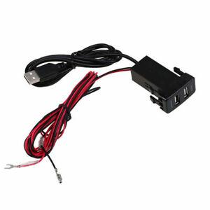 Fit-Toyota-Hilux-Vigo-Car-Dashboard-USB-Charger-Socket-Audio-Port-Interface