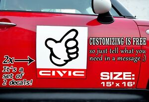 CIVIC-DOOR-STICKERS-Kanjozoku-No-Good-Racing-Kanjo-Track-Number-Plate-EF-EG-EK