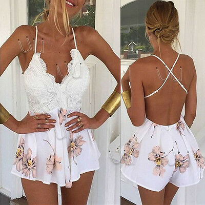 New Women Ladies Clubwear V-Neck Playsuit Bodycon Party Jumpsuit Romper Trousers