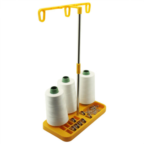 3 Spool Thread Stand for Overlock Sergers Sewing /& Embroidery Machines