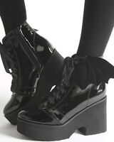 Iron Fist Bat Wing Boots Black Patent Ash Costello Bat Royalty Gothic Goth Vampi