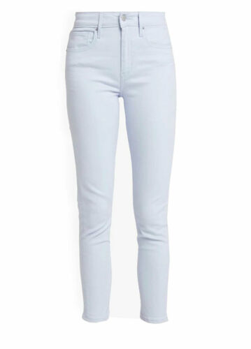 NUOVA linea donna light blue Skinny High Rise jeans donna slim fit tasche zip 8-14