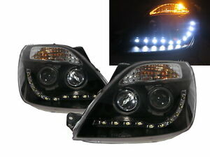 Fiesta MK5 2002-2005 Pre-Facelift Projector R8Look Headlight Black for FORD LHD