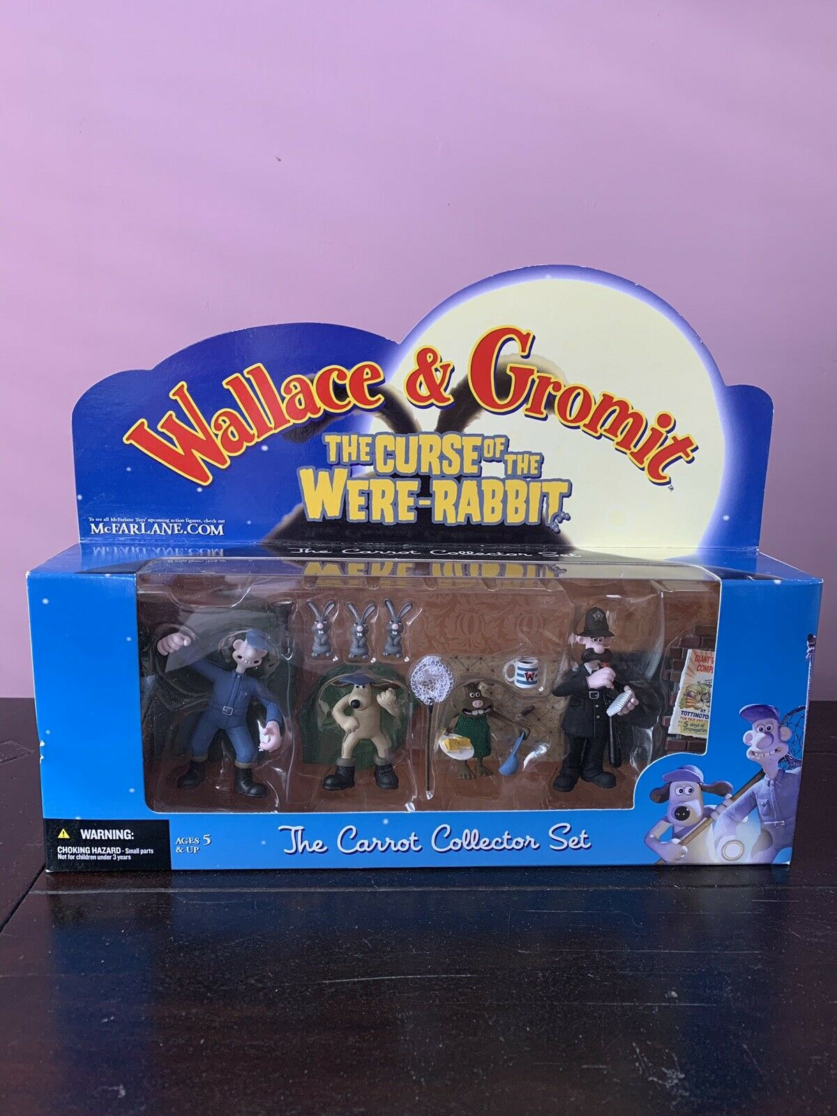 McFarlane Wallace & Gromit la maldición de los fueron Conejo la zanahoria Coleccionista Set