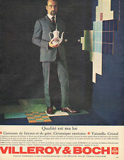 Publicité Advertising 1963 VILLEROY & BOCH  carreaux de grès faience céramique .