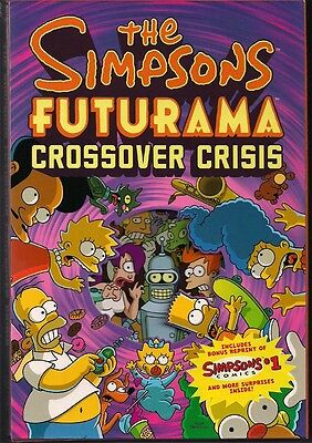 FUTURAMA /& THE SIMPSONS CROSSOVER CRISIS DIE-CUT SLIPCASE HARD COVER GN TPB NEW