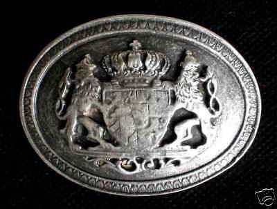 Accessoires First Class Gürtelschnalle Neu Wappen Hochadel Heraldik Adelswappen Adel 1a Top# Modische Muster Kleidung & Access. Vor 1900