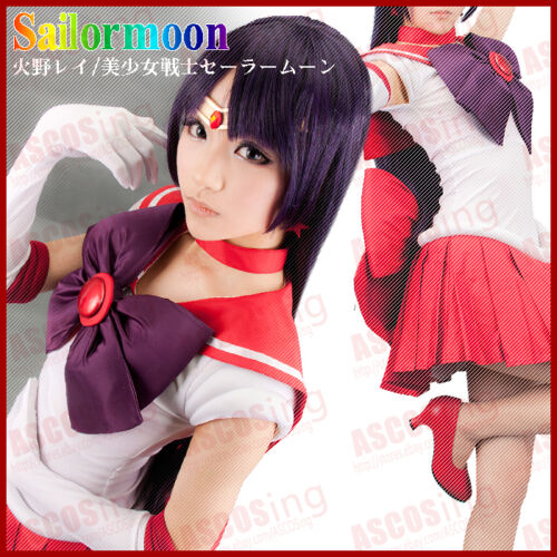 <Sailor Moon>Sailor Mars Hino Rei Cosplay Costume TOP GRADE ver Any Size