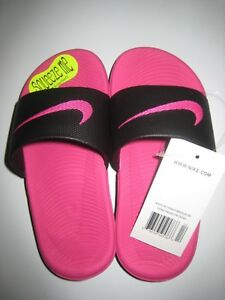 7f9ef50b6d631 Nike Slides Pink Black Kawa SolarSoft 11C-12C-13C Child New NWT ...