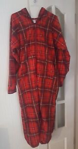 Women-Girls-Boys-Red-Plaid-All-in-one-Jumpsuit-Size-XXS
