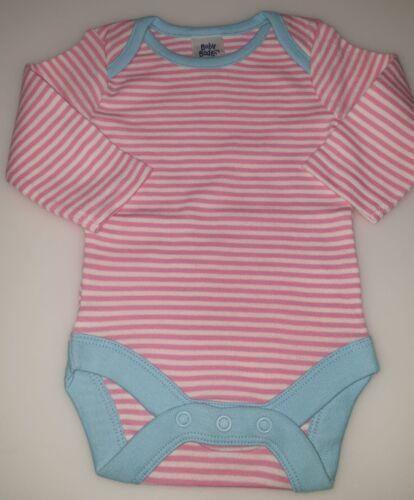 New Ex Baby Boden  Stripe Bodysuit Vest Unisex Long sleeve Girls Pink