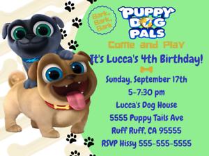 Image Is Loading Puppy Dog Pals Birthday Invitation