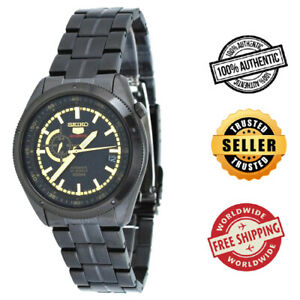 Seiko-5-Sports-Automatic-SSA071K1-Men-24-Hour-Dial-Black-Stainless-Steel-Watch
