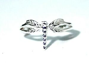 Sterling Silver Dragonfly Toe Ring Dainty