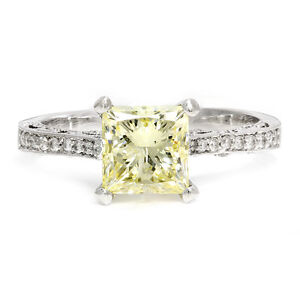 Fancy-Yellow-Princess-Diamond-Vintage-Style-Engagement-Ring-w-Accents-2-18ctw