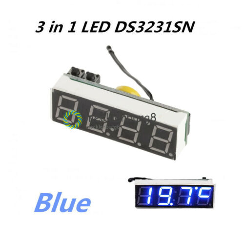 RGB DS3231SN 3 in 1 LED digital Clock Temperature Voltage Module High Accuracy