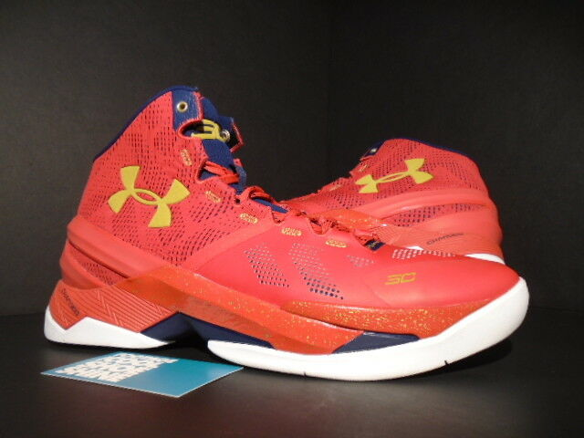 c50d7a0f0f UNDER ARMOUR UA STEPH CURRY II 2 FLOOR GENERAL RED BLUE GOLD 1259007-601  11.5