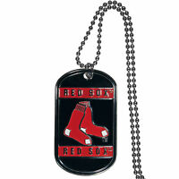 Boston Red Sox Metal Tag Necklace Mlb Licensed Baseball Jewelry