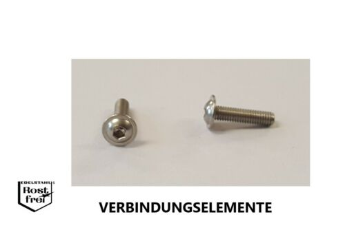 Linsenkopfschrauben mit FLANSCH ISO 7380 EDELSTAHL A2 M1,6 M2 M2,5 M3 M4