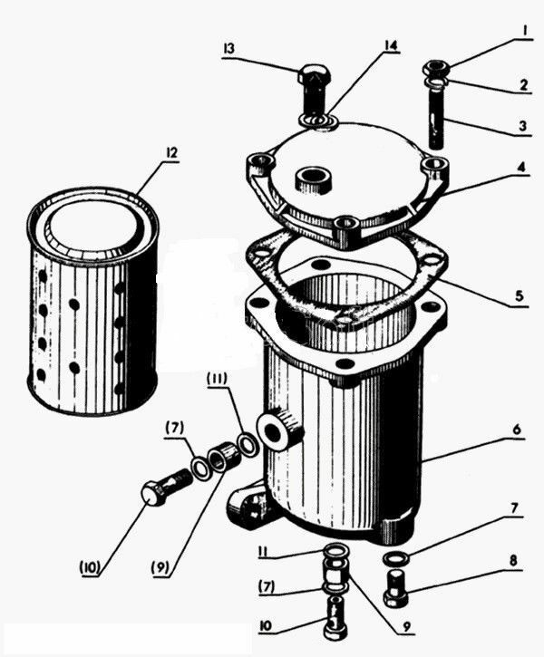 kubota tractor fuel filter