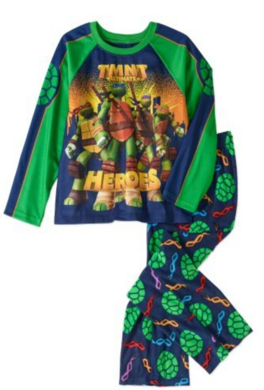 d33366bb04 Nickelodeon Teenage Mutant Ninja Turtles Boys Pajama Set PJs 10 12 ...
