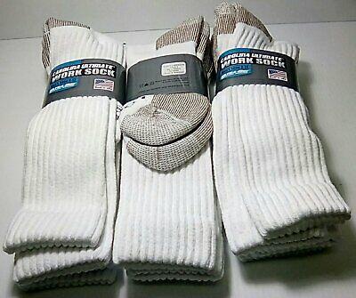 Carolina Ultimate Ultra-Dri Logger OTC Work Sock Large 6 pair $28.99 White