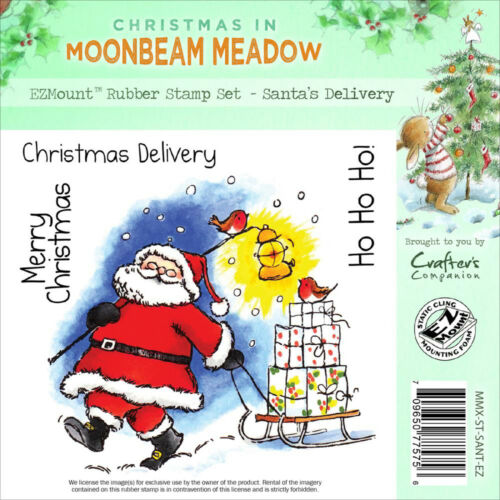 Christmas Santa Unmounted Rubber Stamps MOONBEAM MEADOW MMX-ST-SANT-EZ New