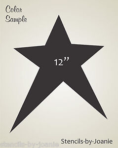 Image Is Loading XL Star Shape Stencil Primitive Annie Country Template