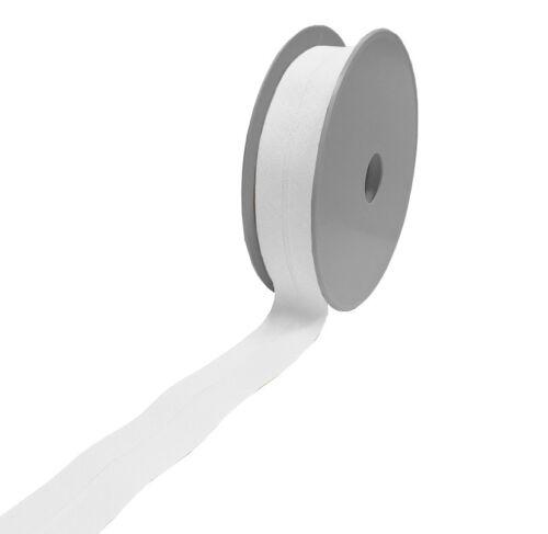 Baumwoll Schrägband 60//30 weiss 1 Rolle 25m 0.76 EUR//Meter