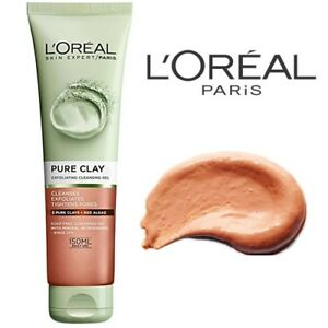 L-039-Oreal-Skin-Cleansing-Pure-Clay-Exfoliating-Cleansing-Gel-Tightens-Pores-150-ml