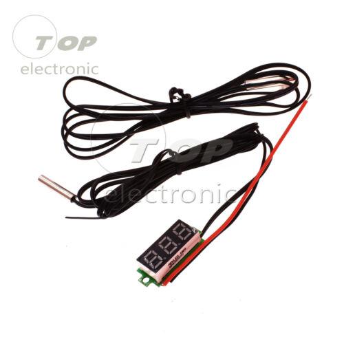 0.28 Red Digital Display Temperature Meter Detector Module With NTC Probe