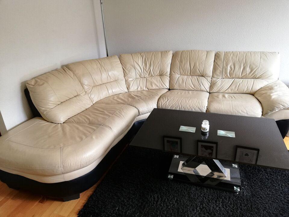 Sofa, læder, 5 pers.