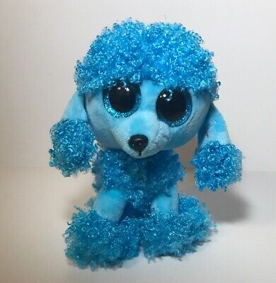 6 Inch Size NEW Ty Beanie Boos ~ MANDY the Blue Poodle Dog NWT/'S