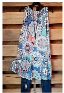 Shirtkleid-Sommerkleid-Minikleid-Kleid-Urlaub-Strand-Beach-Jersey-44-46-48-NEU