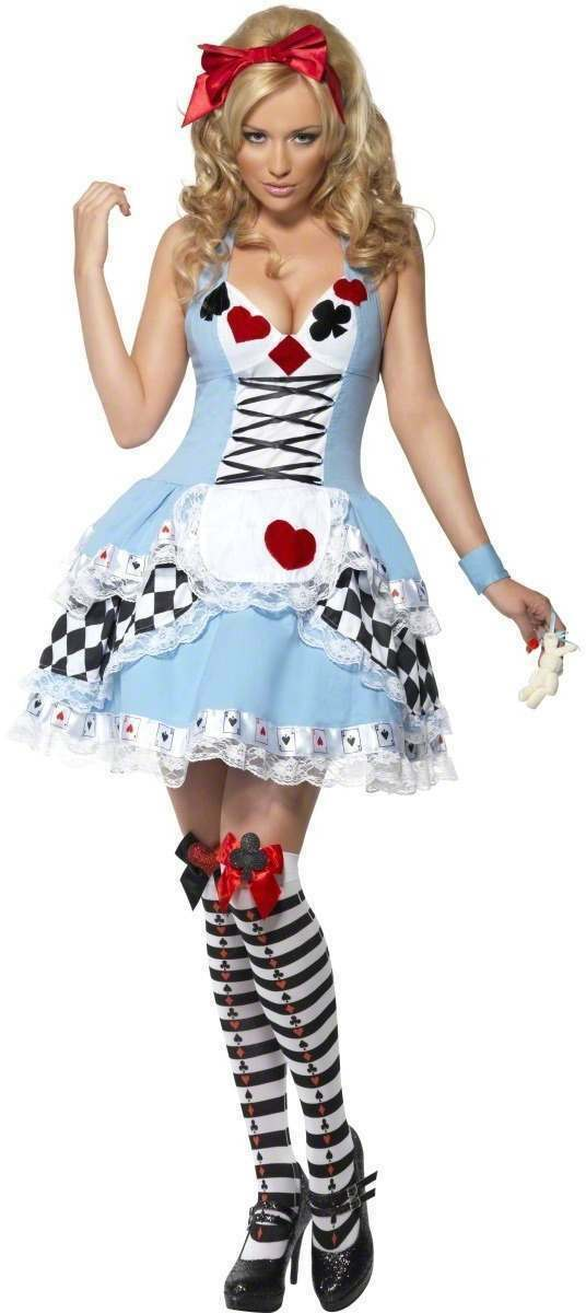 FEVER MISS WONDERLAND FANCY DRESS DRESS DRESS COSTUME LADIES (FAIRY TALES , SEXY) | Mittel Preis
