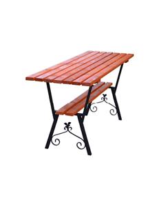 Gartentisch Holz Metall Braun Holztisch Tisch Terrasse Outdoor