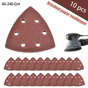 10-St-Schleifdreiecke-Dreieck-Schleifpapier-Schleifscheiben-fuer-Deltaschleifer