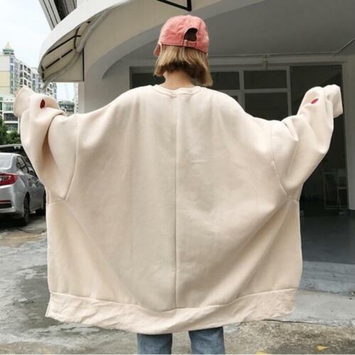 Womens Oversized Sweats Hoodie Long Blouse Sweatshirt Cotton Baggy Tops Pullover