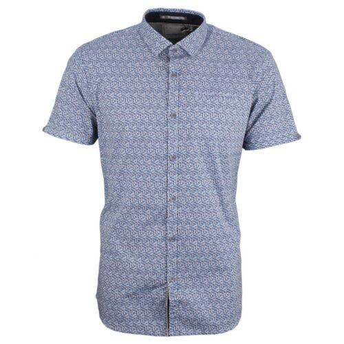 No Excess Tempo Libero Camicia Maniche Corte Bianca Blu minimo motivo 90460306 136