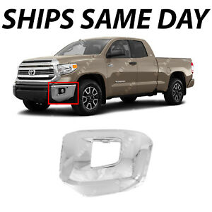 NEW Chrome Steel Drivers Left LH Front Bumper End for 2014-2018 Tundra w/ Park