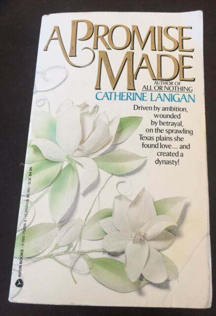 A Promise Made by Catherine Lanigan 1990 Paperback Novel