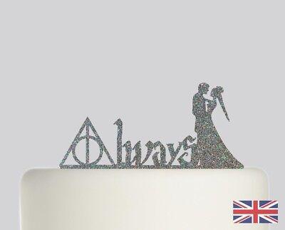 Always Harry Potter Wedding Cake Topper Acrylic Glitter Cake Decoration 235 Ebay