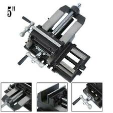 5 Heavy Duty Cross Drill Press Vise Slide Metal Milling 2 Way Clamp Machine Set