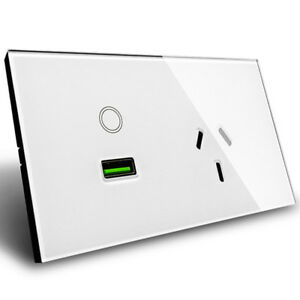 AU-Standard-USB-Wall-Power-Socket-Touch-Switch-Wall-Socket-with-Wall-Outlet-220V