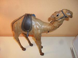 Arredamento Etnico Africano : Statua dromedario africano scultura cammello pelle e cuoio